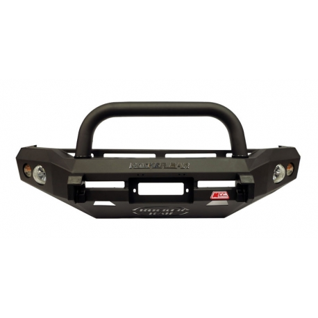 Mcc Rocker Black Bullbar Single Loop Inc Fog Lights Isuzu