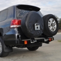 Outback Accessories Rear Bar (Optional Wheel Carriers/Jerry Can Holders) suitable for Toyota Landcruiser 200 Series 2007-2015