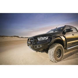 AFN 4x4 Front Bullbar (Ford PX MK2 Ranger 2015 on) complete with winch mount and Fog Light Inserts