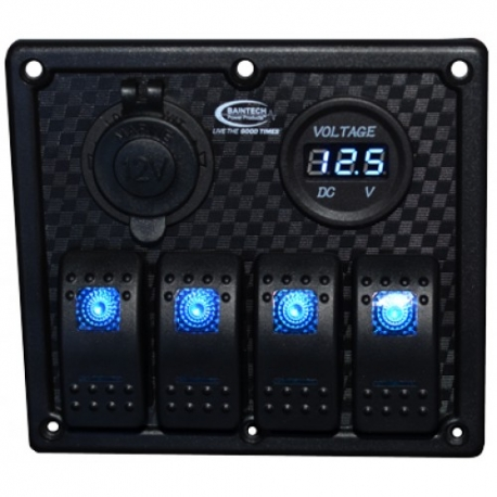 Baintech 4 Switch Power Panel
