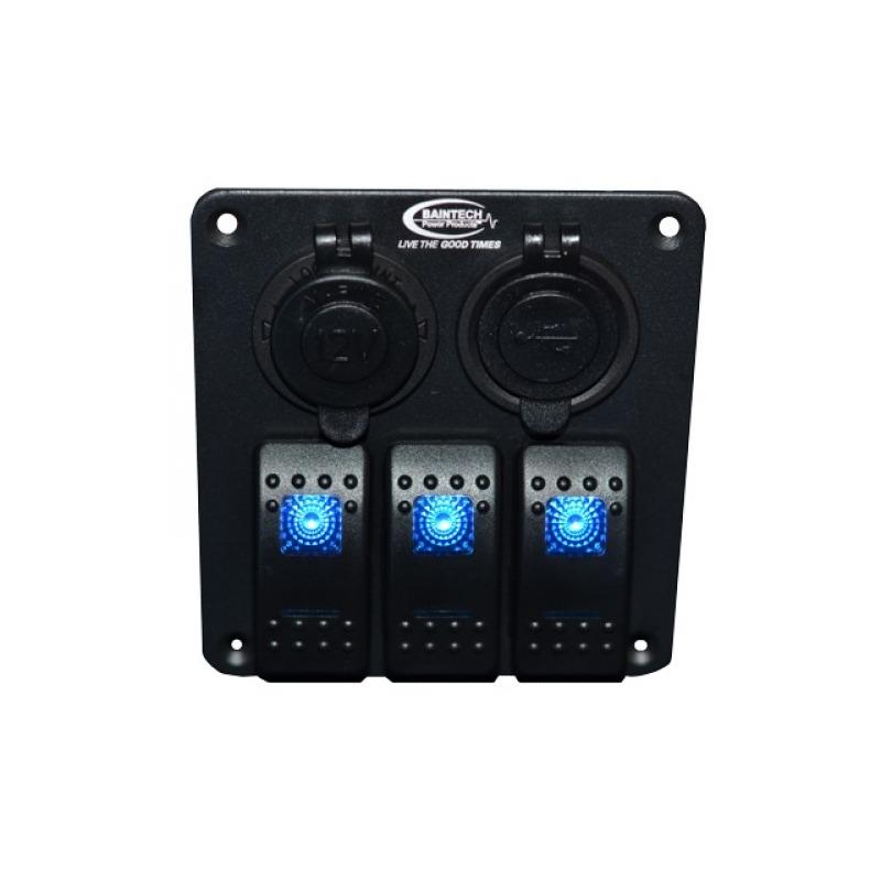 Baintech 3 Switch Power Panel