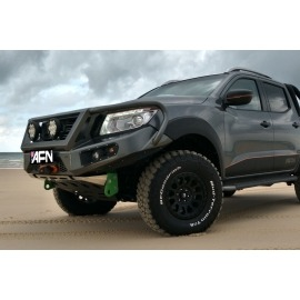 AFN 4x4 Front Bullbar (Nissan Navara NP300) complete with winch mount and Fog Light Inserts