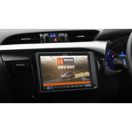 """Alpine X802D 8"""" Navigation System with Hema suitable for Toyota Hilux 2015 on"""