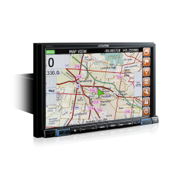 """Alpine X802D 8"""" Navigation System with Hema suitable for Toyota LandCruiser 200 Series 2007-2015"""
