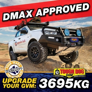 Get the biggest GVM on the market through us  The 2021 Mazda BT50 and Isuzu DMax have just been government approved for a 3695kg GVM Upgrade.   Call in store or check us out online. Don't wait on the others to be able to get your car into there shop with months and months of waiting. Call now and we will get it done faster.   Our service is as smooth as a ice cold beer.   Tough Dog Suspension #getfitted #fitmy4wd