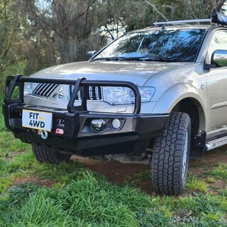 Look into for a Bullbar for just about any 4x4 on the planet, then look no further than the MCC Falcon Black A Frame Bullbar. This challenger opted for the Fog Light option too.   MCC 4x4 Accessories #getfitted #fitmy4wd