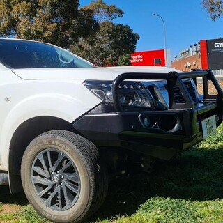 This Nissan Navara came in to get a quality built Bullbar that didn't break the bank like other brands. The MCC Falcon Bar is a strong and quality product that suits most budgets.   MCC 4x4 Accessories #getfitted #fitmy4wd