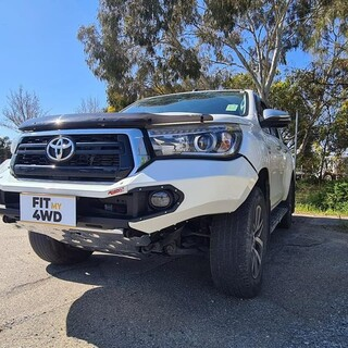 Here is a fine example of the slickest and toughest looking bar on a Toyota Hilux. The Rhino 3D Evolution Bar in full colour coded finish.   Rhino 4X4 Australia #fitmy4wd#getfitted