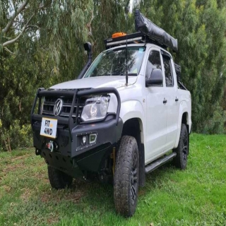 """We finished off another busy week with a few really nice looking 4x4s. This Amarok got a AfFN Front bar and Rhino 4x4 Winch. Nothing better than protection to stop a roo and recovery to pull out a """"Parked"""" mate.   AFN 4x4 Australia Rhino 4X4 Australia #fitmy4wd #getfitted"""