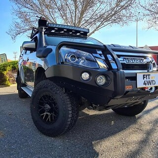 """This customer came in and told us to """"Fit My 4WD"""" and we did just that to his now beast of a Isuzu DMax. The list below is what we have fitted so far, and there is still more to come.   🍻 Piak Premium Hooped Bar 🍻 Piak Rear Bar with Side Protection 🍻 Safari Snorkel 🍻 Tough Dog Suspension 🍻 ROH Crawler Wheels 🍻 Falken Tyres  PIAK Off-road Official - Australia and New Zealand Safari 4x4 Engineering Tough Dog Suspension ROH Wheels Falken Tire #fitmy4wd #getfitted"""