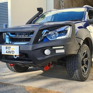This Isuzu DMax wanted a cool looking bar without the extra weight. So we opted for a SmartBar with a Rhino 9500lbs winch.  SmartBar Rhino 4X4 Australia #fitmy4wd #getfitted