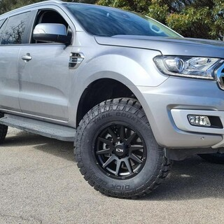 """Want that Aggressive looking Ford Everest, bigger & wider wheels with a Dash of Tough Dog Suspension """"poof"""" magic happens.   Tough Dog Suspension ION Alloy Wheels Mickey Thompson Performance Tires & Wheels  #fitmy4wd #getfitted"""