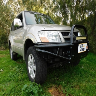 Check out this beast of a Mitsubishi Pajero sporting the cool Xrox Bar  Outback Accessories Australia #fitmy4wd #getfitted